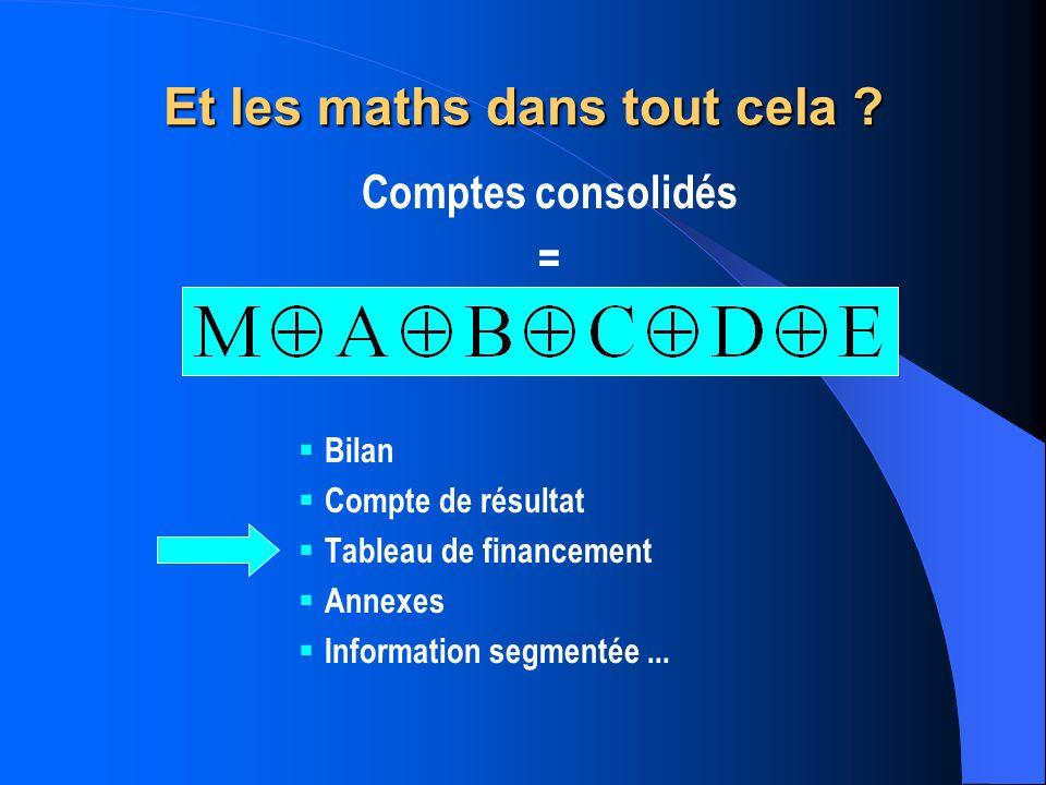 Et les maths dans tout cela .