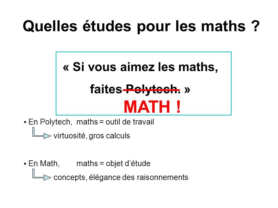 « Si vous aimez les maths, faites Polytech.» MATH .