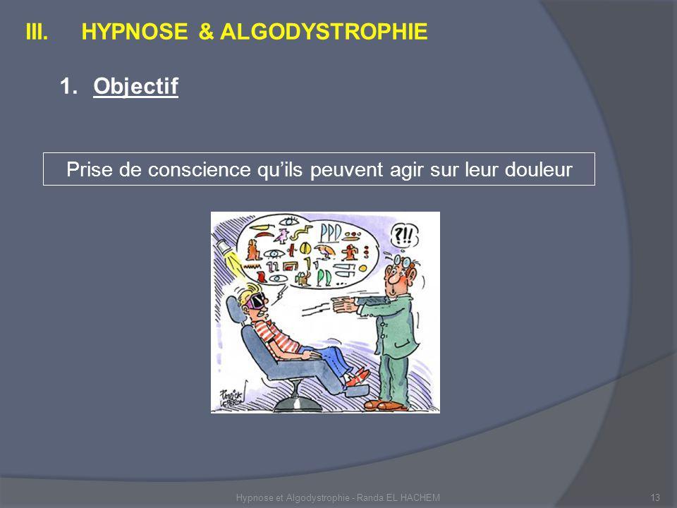 Hypnose et Algodystrophie - Randa EL HACHEM13 III.