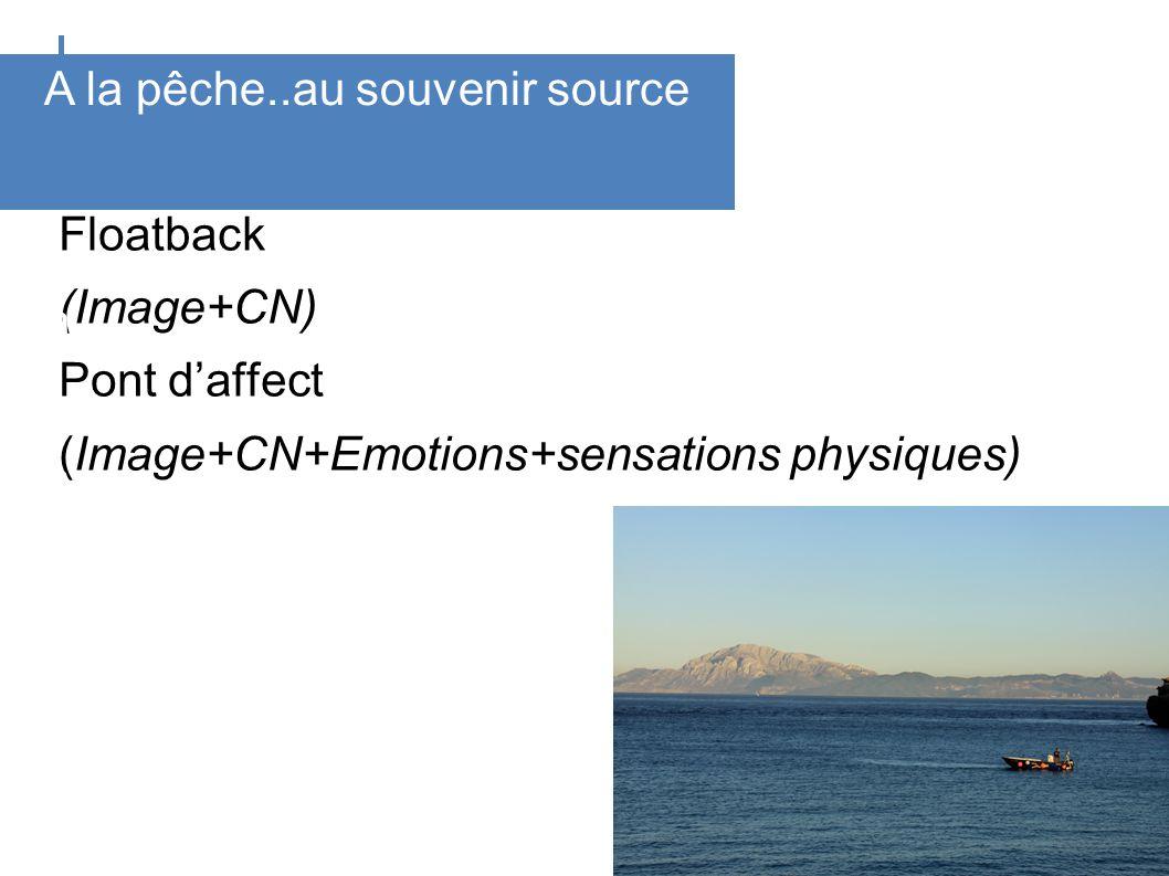 Floatback (Image+CN) Pont daffect (Image+CN+Emotions+sensations physiques) D u c o g n i t i f à l a r c h a ï q u e A la pêche..au souvenir source