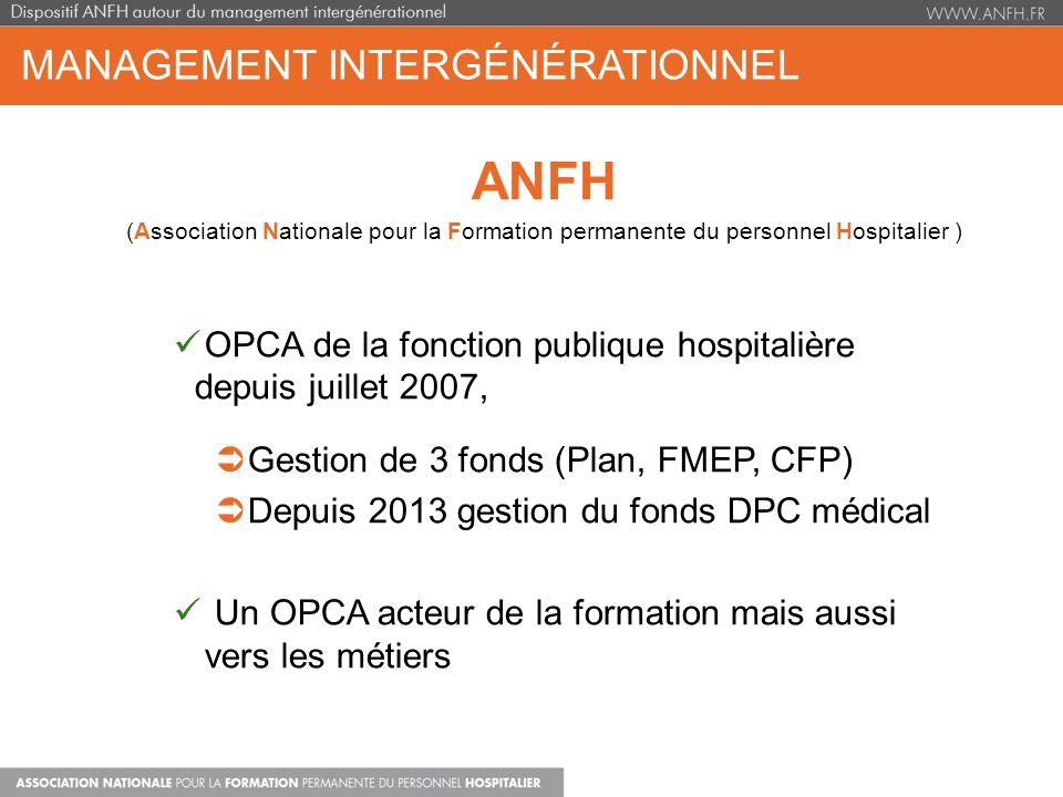 MANAGEMENT INTERGÉNÉRATIONNEL ANFH (Association Nationale pour la Formation permanente du personnel Hospitalier ) OPCA de la fonction publique hospita