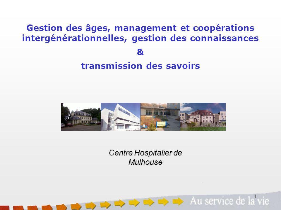 1 Gestion des âges, management et coopérations intergénérationnelles, gestion des connaissances & transmission des savoirs Centre Hospitalier de Mulho