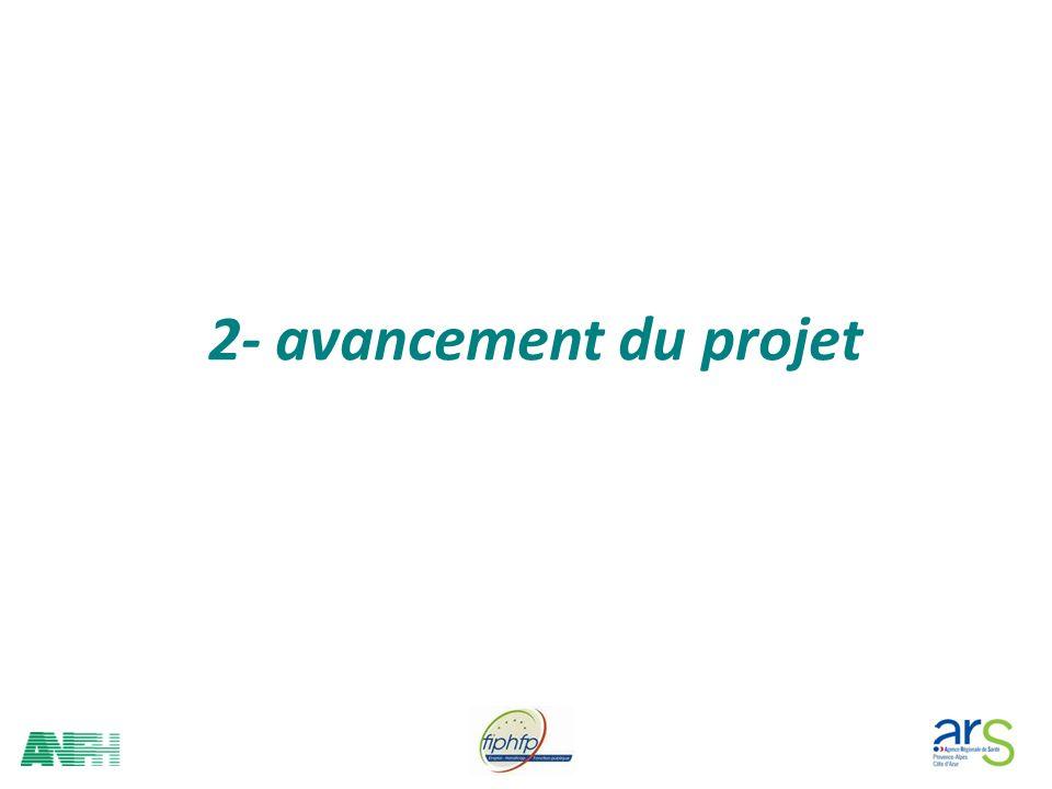 2- avancement du projet