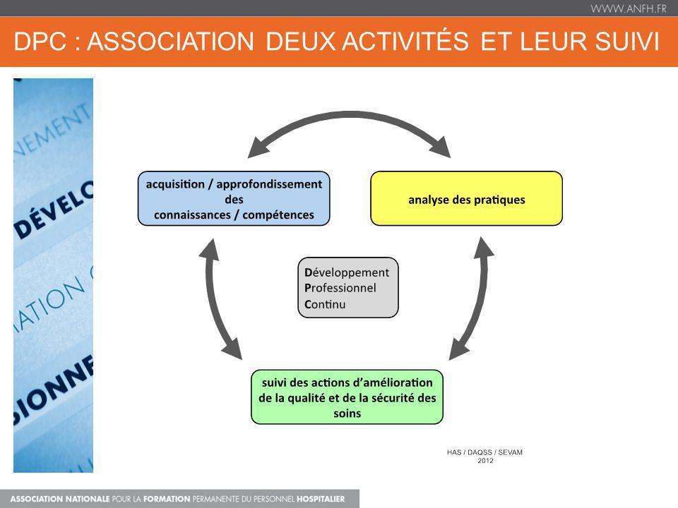 DPC : ASSOCIATION DEUX ACTIVITÉS ET LEUR SUIVI