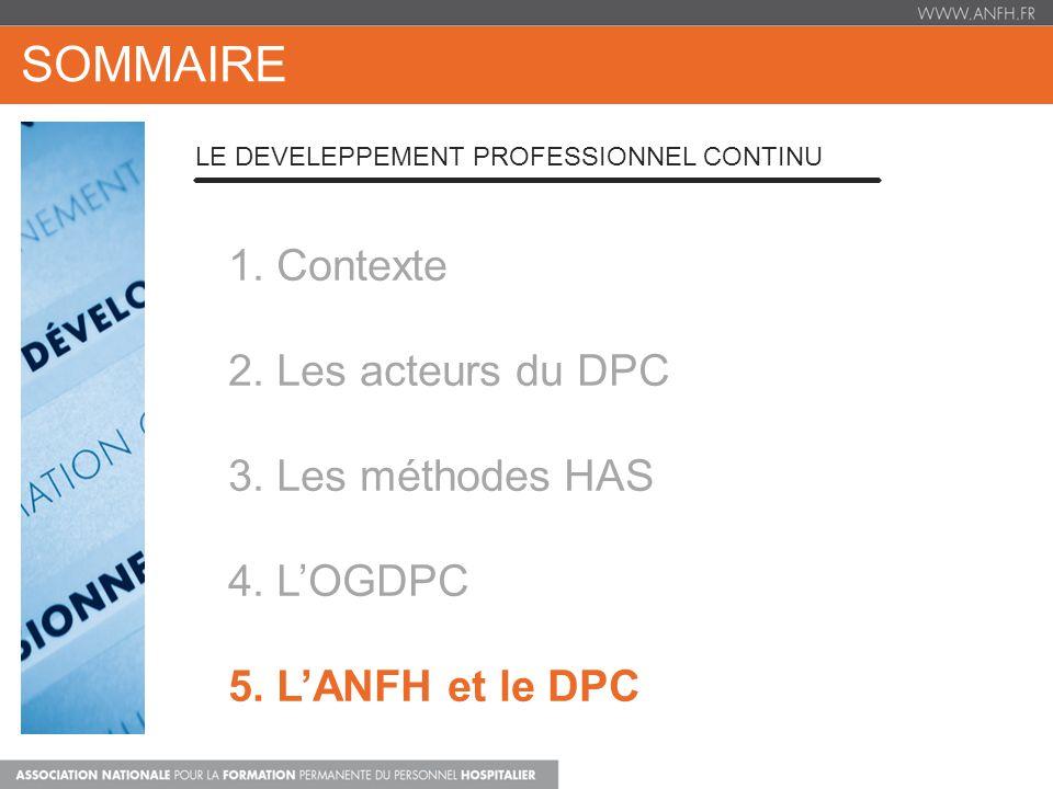 1. Contexte 2. Les acteurs du DPC 3. Les méthodes HAS 4.