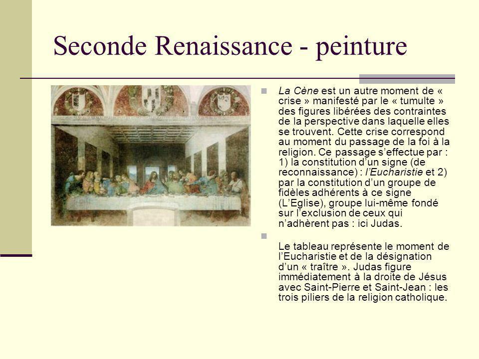 Seconde Renaissance - peinture La Cène est un autre moment de « crise » manifesté par le « tumulte » des figures libérées des contraintes de la perspe