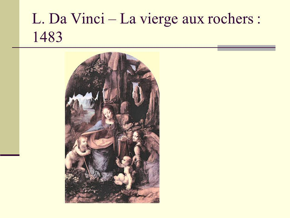 L. Da Vinci – La vierge aux rochers : 1483