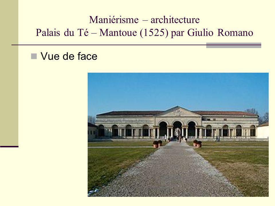 Maniérisme – architecture Palais du Té – Mantoue (1525) par Giulio Romano Vue de face