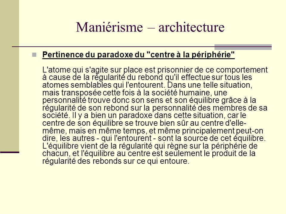 Maniérisme – architecture Pertinence du paradoxe du