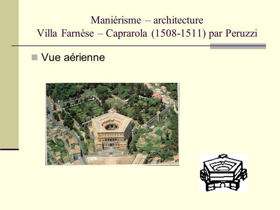 Maniérisme – architecture Villa Farnèse – Caprarola (1508-1511) par Peruzzi Vue aérienne