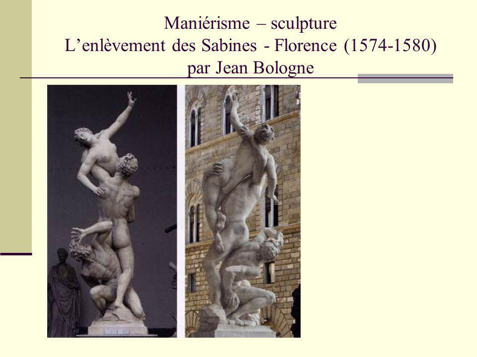 Maniérisme – sculpture Lenlèvement des Sabines (détail) - Florence (1574- 1580) par Jean Bologne