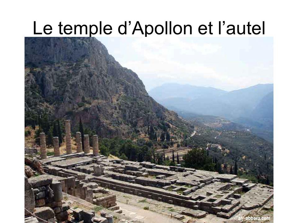 Le temple dApollon et lautel