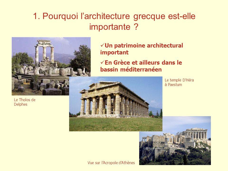 1.Pourquoi larchitecture grecque est-elle importante .