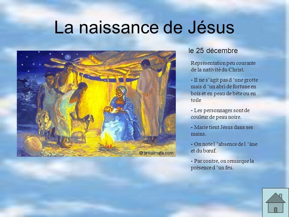 La naissance de Jésus Représentation peu courante de la nativité du Christ.