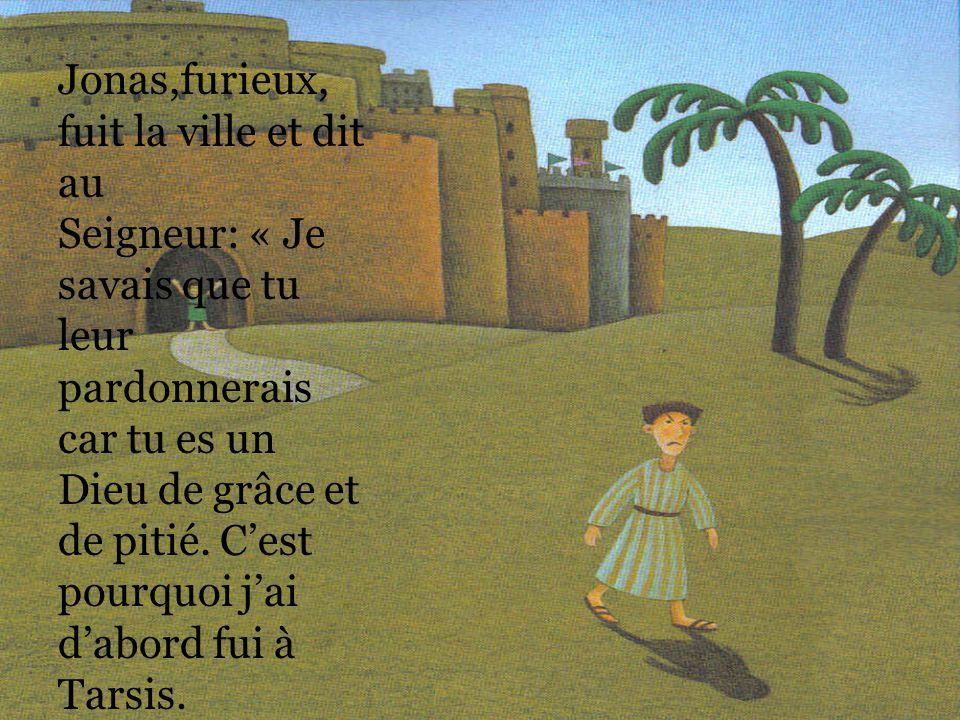 Jonas entra dans la ville de Ninive et mit trois jours pour la traverser. Là, il proclama: « Encore 40 jours et Ninive sera détruite! ». Les habitants
