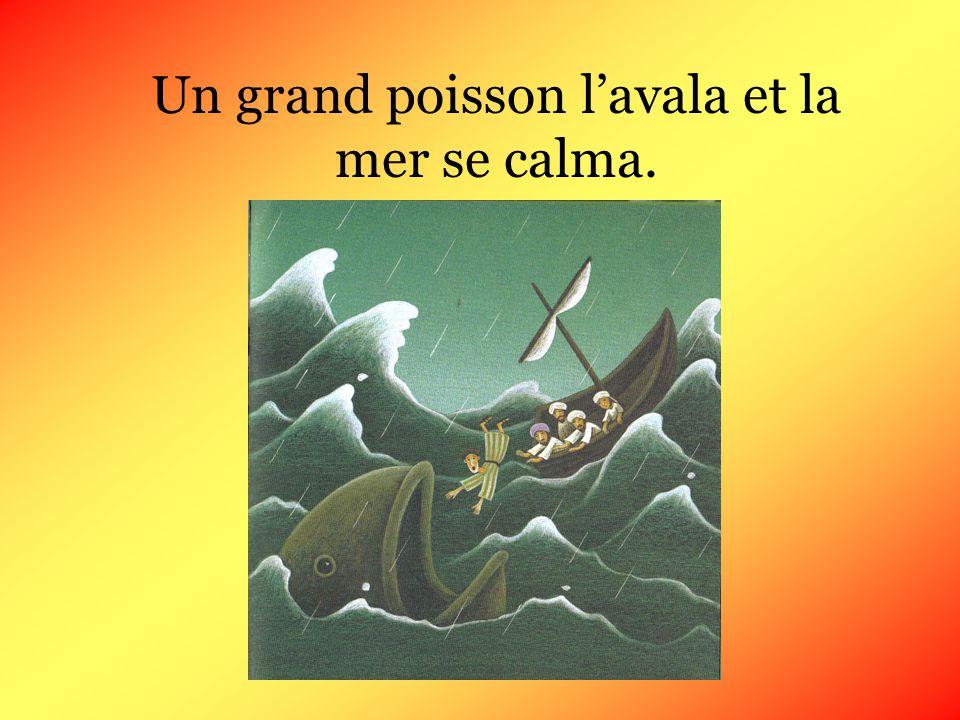 Les marins craignirent des représailles du Seigneur. Cest pourquoi ils ramèrent pour faire revenir la bateau vers la terre ferme. La mer étant trop da