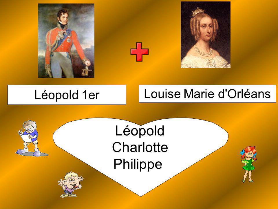 Louise Marie d Orléans Léopold 1er Léopold Charlotte Philippe