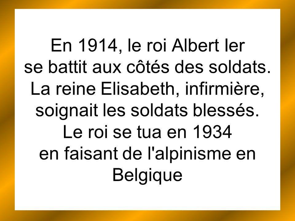 En 1914, le roi Albert Ier se battit aux côtés des soldats.