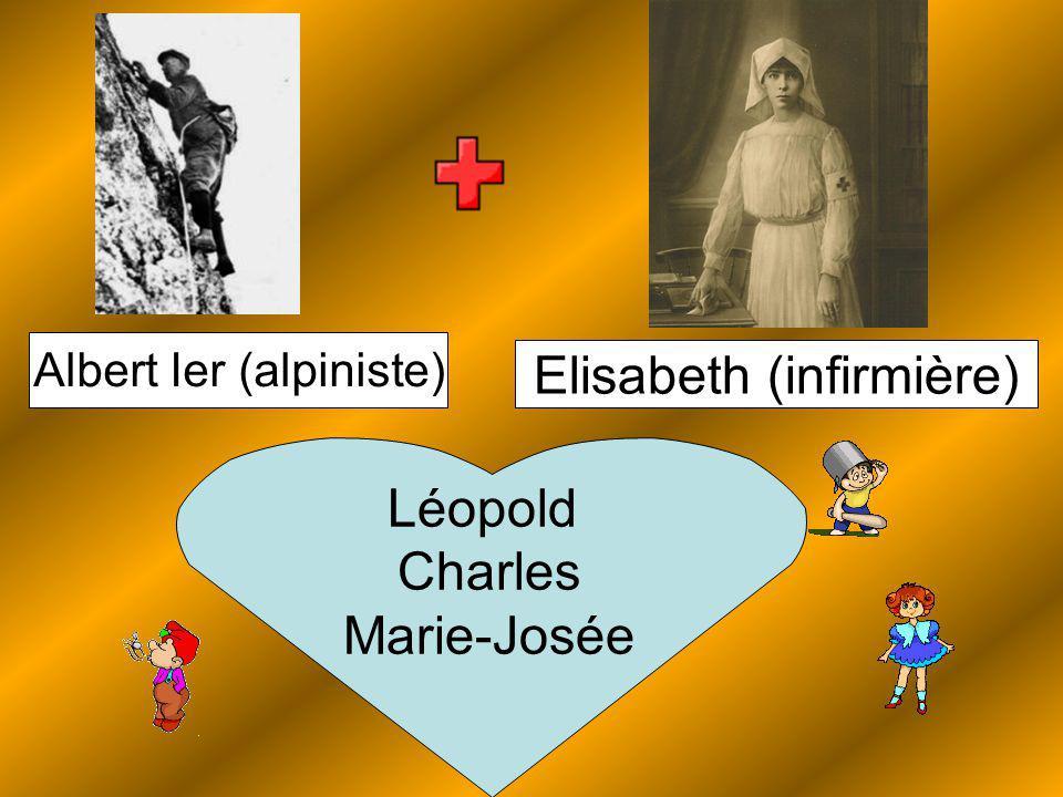 Elisabeth (infirmière) Albert Ier (alpiniste) Léopold Charles Marie-Josée