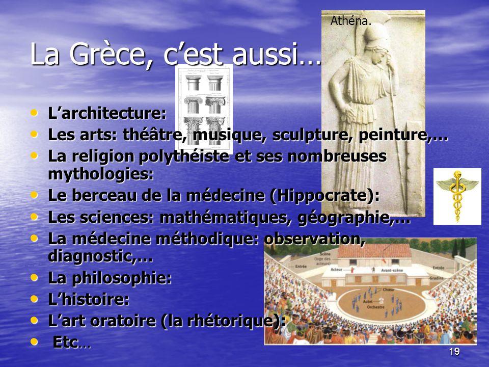18 La cité de Sparte fut une des plus grandes puissances de l'Antiquité pendant environ deux cents ans (VIIème - Vème siècle). Sa domination s'étendai