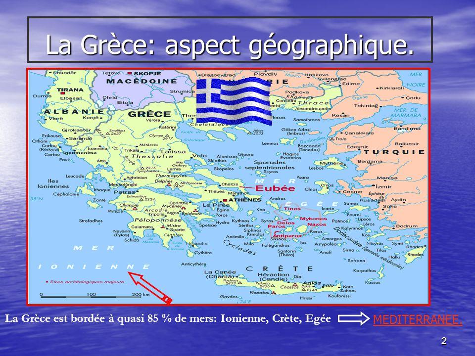 1 Cours dHistoire. 3°G et TQ Institut Saint-Charles Péruwelz. La Grèce.