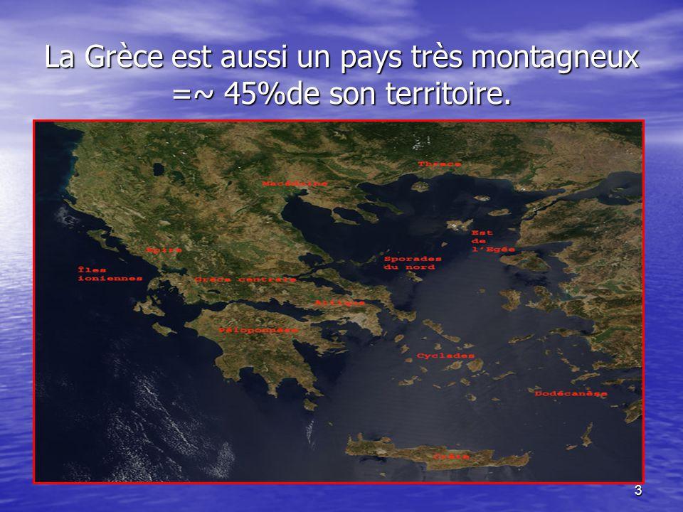 2 La Grèce: aspect géographique. La Grèce est bordée à quasi 85 % de mers: Ionienne, Crète, Egée MEDITERRANEE.