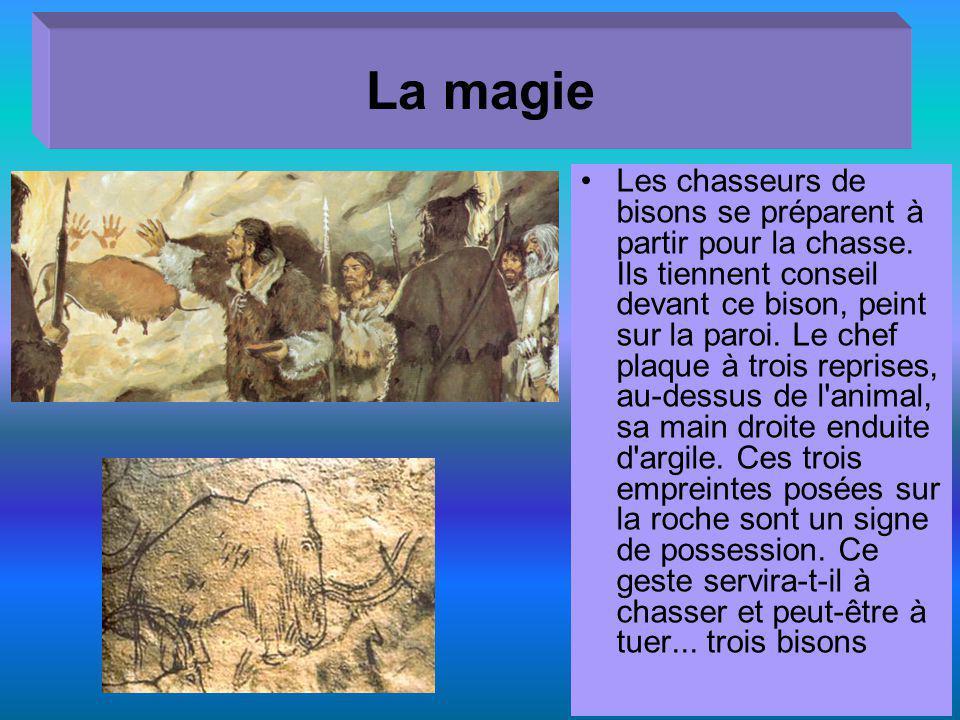 La magie Les chasseurs de bisons se préparent à partir pour la chasse.