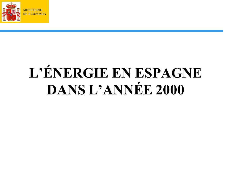 MINISTERIO DE ECONOMIA LÉNERGIE EN ESPAGNE DANS LANNÉE 2000