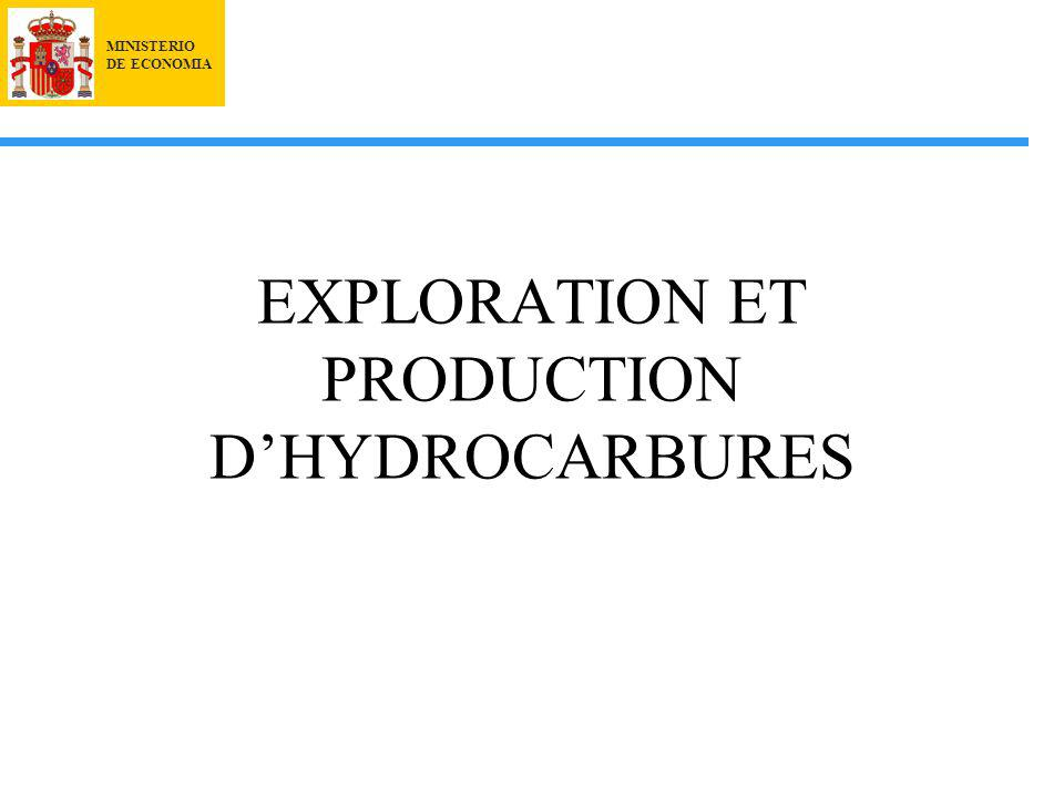 MINISTERIO DE ECONOMIA EXPLORATION ET PRODUCTION DHYDROCARBURES