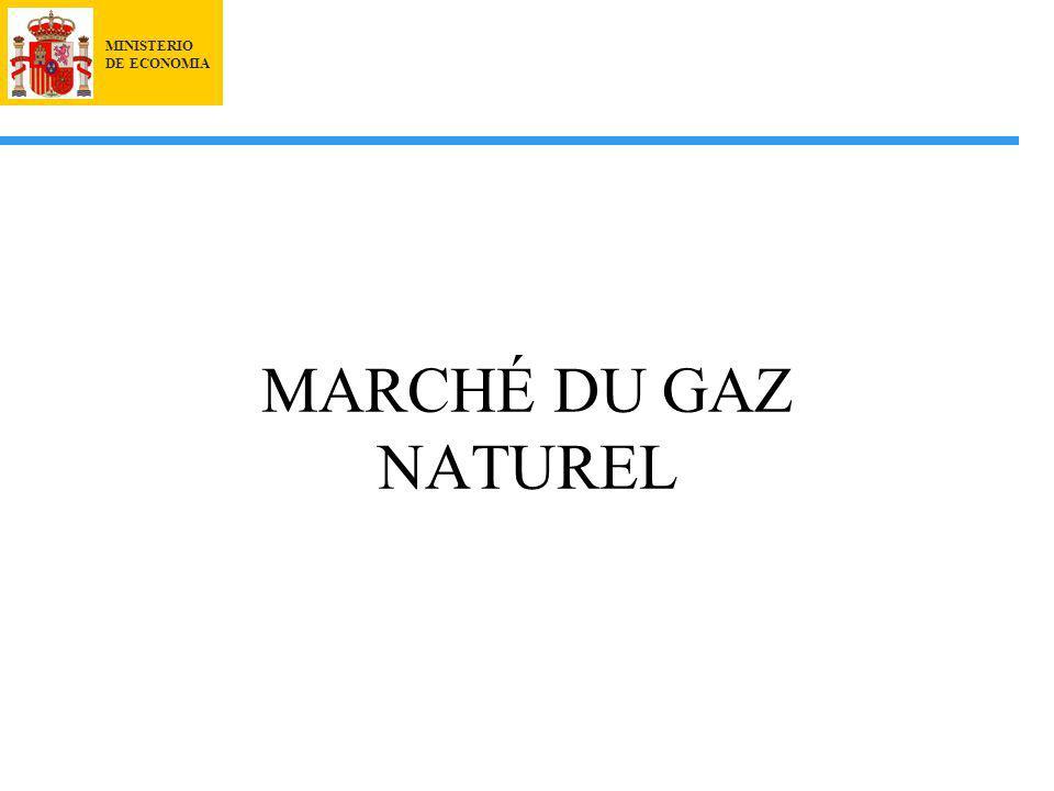 MINISTERIO DE ECONOMIA MARCHÉ DU GAZ NATUREL