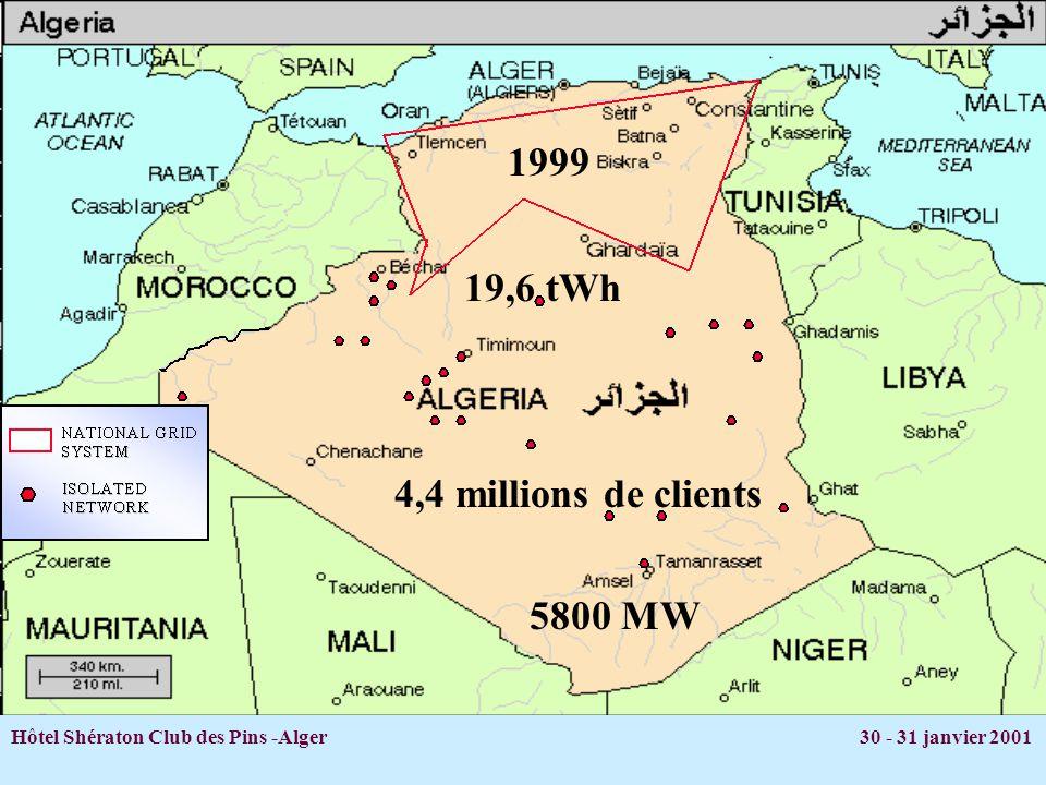 Hôtel Shératon Club des Pins -Alger 30 - 31 janvier 2001 H.