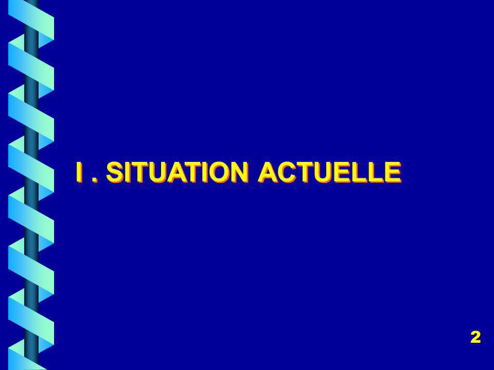 I. SITUATION ACTUELLE 2