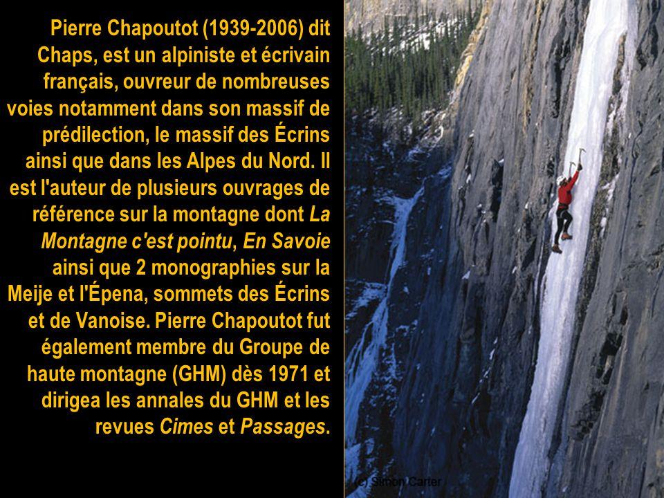 Jean Couzy est un alpiniste et ingénieur dans l'aéronautique militaire, né à Nérac dans le Lot-et-Garonne en 1923, mort dans le Dévoluy le 2 novembre