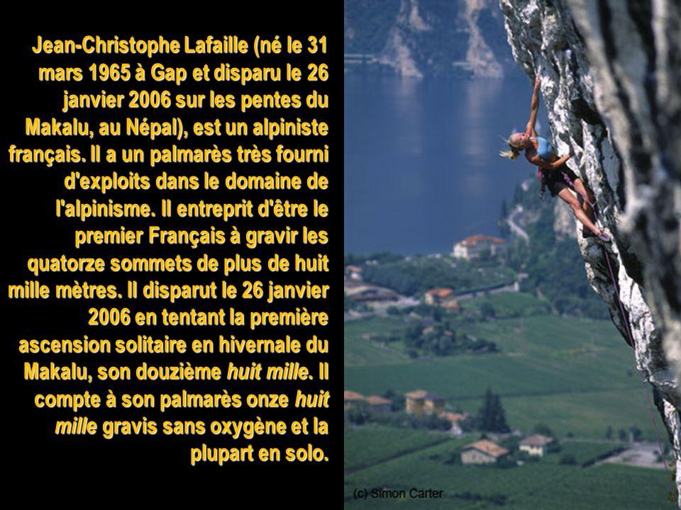 Louis Lachenal (1921-1955) est un alpiniste français, premier vainqueur de l'un des sommets de plus de huit mille mètres : l'Annapurna (8 091 m).