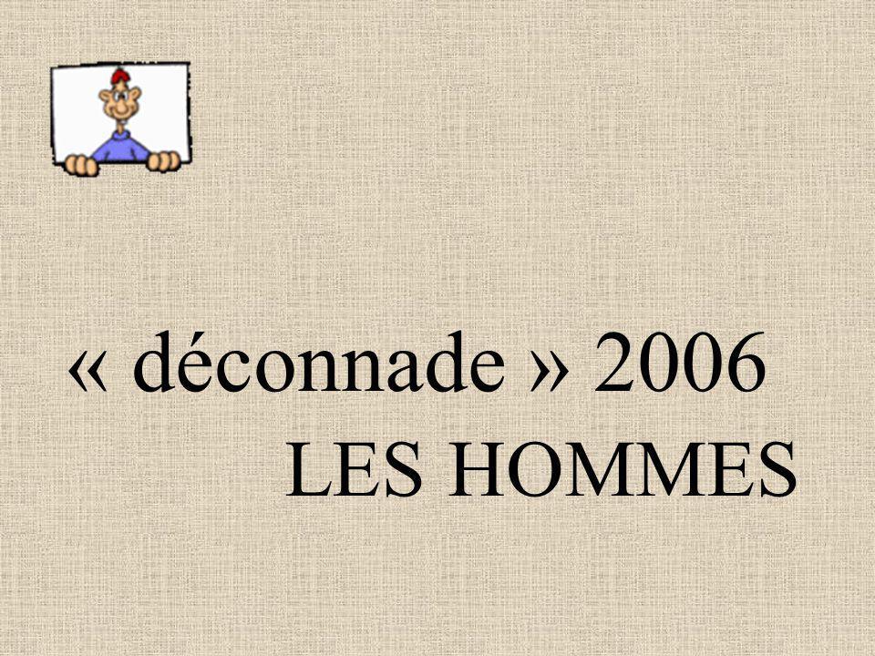 « déconnade » 2006 LES HOMMES