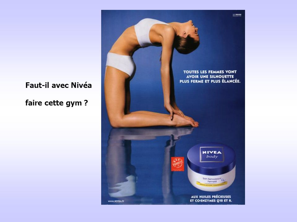 Faut-il avec Nivéa faire cette gym ?