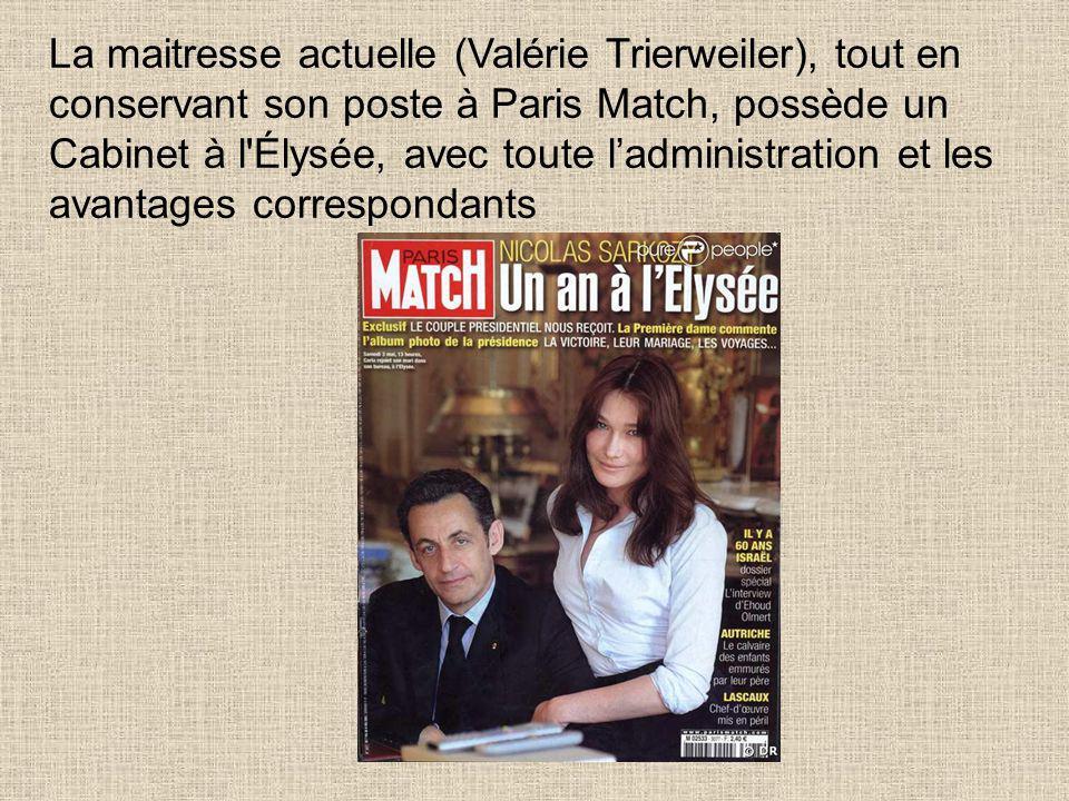 Par ailleurs, Valérie Massonneau (Valérie Trierweiler) est actionnaire de la chaîne Direct 8, et a déclaré en 2011 un revenu annuel de 3 millions d'eu