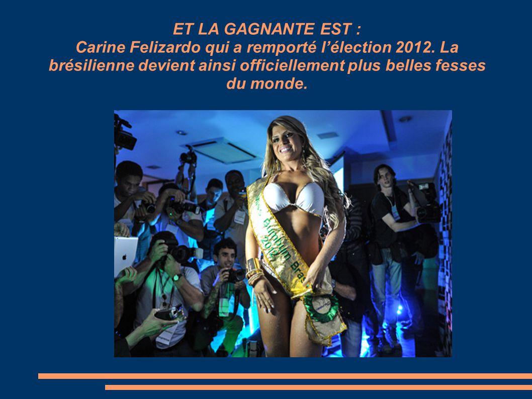 ET LA GAGNANTE EST : Carine Felizardo qui a remporté lélection 2012.