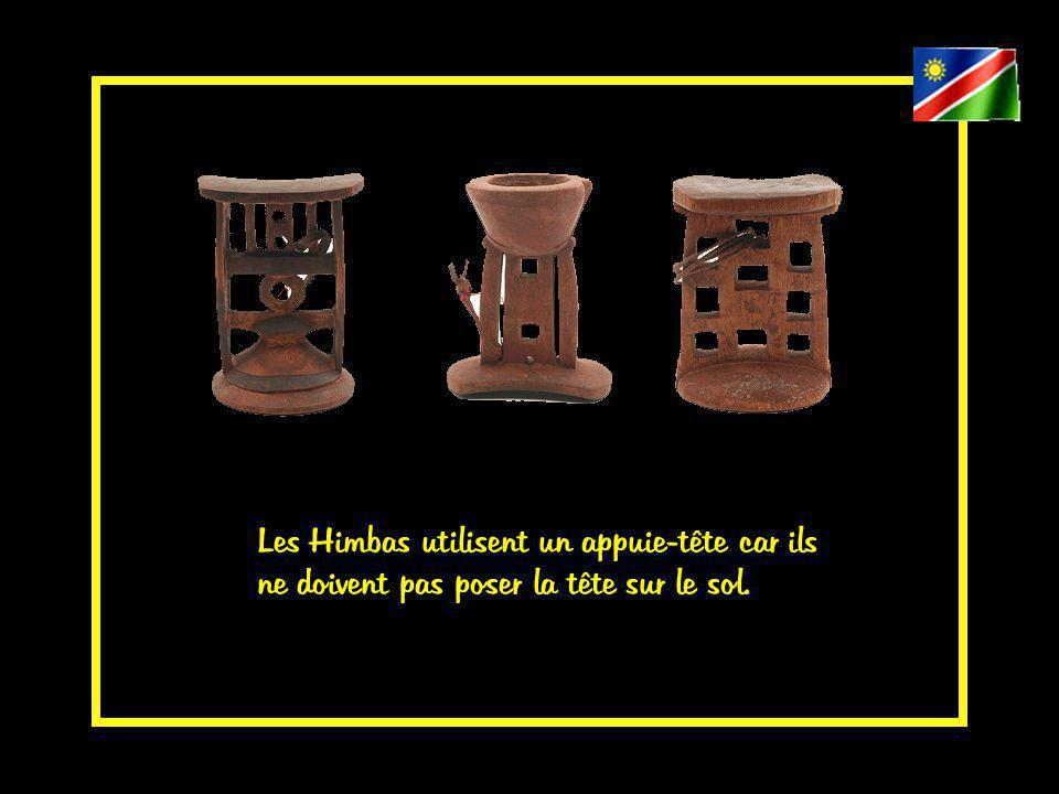 Les femmes Himbas par pudeur ne doivent pas montrer leurs chevilles, elles les cachent avec des bijoux en fer, ce qui est amusant pour nous vu leur nudité.