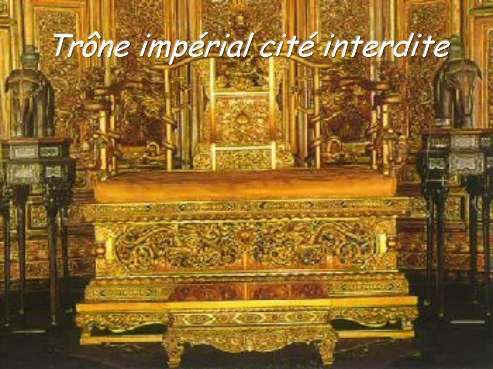 La cité interdite Le palais de lharmonie parfaite trône