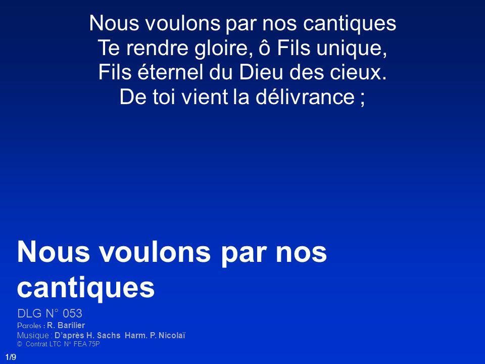 2/9 Ta mort nous donne lassurance De notre salut glorieux.