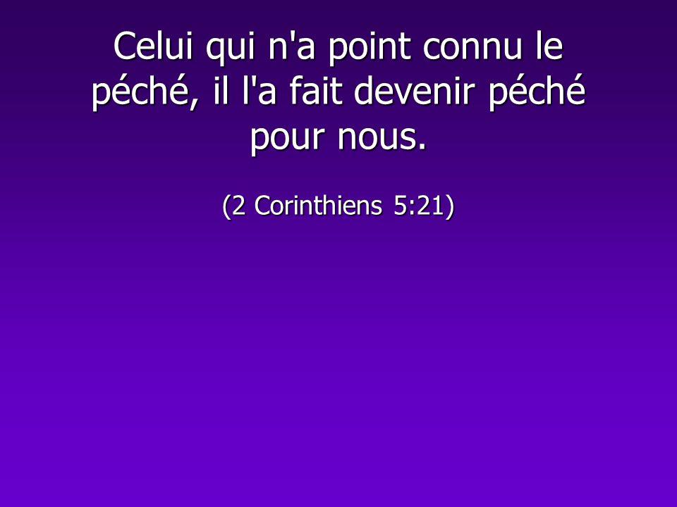 Celui qui n'a point connu le péché, il l'a fait devenir péché pour nous. (2 Corinthiens 5:21)