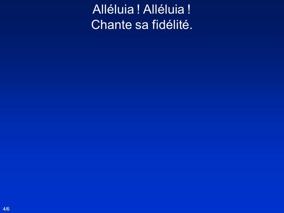 Alléluia ! Chante sa fidélité. 4/6