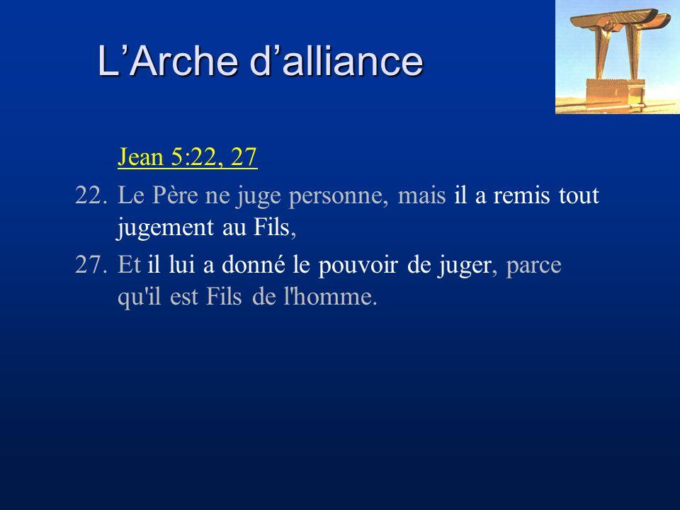 Jean 5:22, 27 22.Le Père ne juge personne, mais il a remis tout jugement au Fils, 27.Et il lui a donné le pouvoir de juger, parce qu'il est Fils de l'