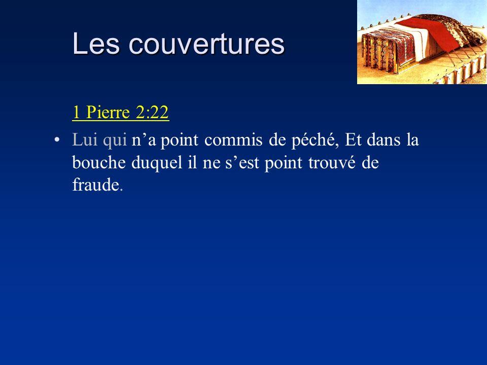 Les couvertures 1 Pierre 2:22 Lui qui na point commis de péché, Et dans la bouche duquel il ne sest point trouvé de fraude.