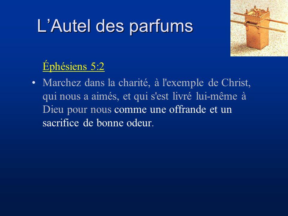 Éphésiens 5:2 Marchez dans la charité, à l'exemple de Christ, qui nous a aimés, et qui s'est livré lui-même à Dieu pour nous comme une offrande et un