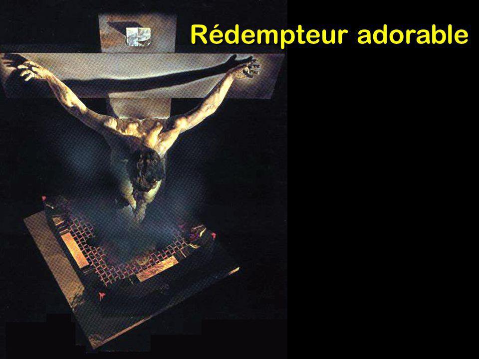 Rédempteur adorable, Sur la croix attaché, Traité comme un coupable, Brisé pour mon péché, Ton angoisse suprême, Ta douleur, ton tourment Me disent : « Vois, je t aime, J ai pris ton châtiment.