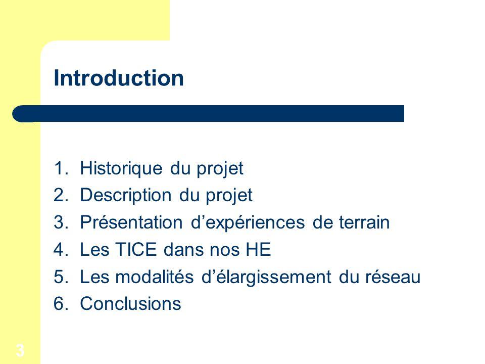 3 Introduction 1. Historique du projet 2. Description du projet 3.