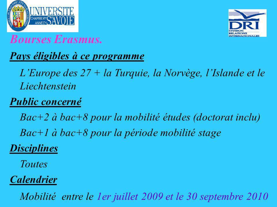 Bourses Erasmus.