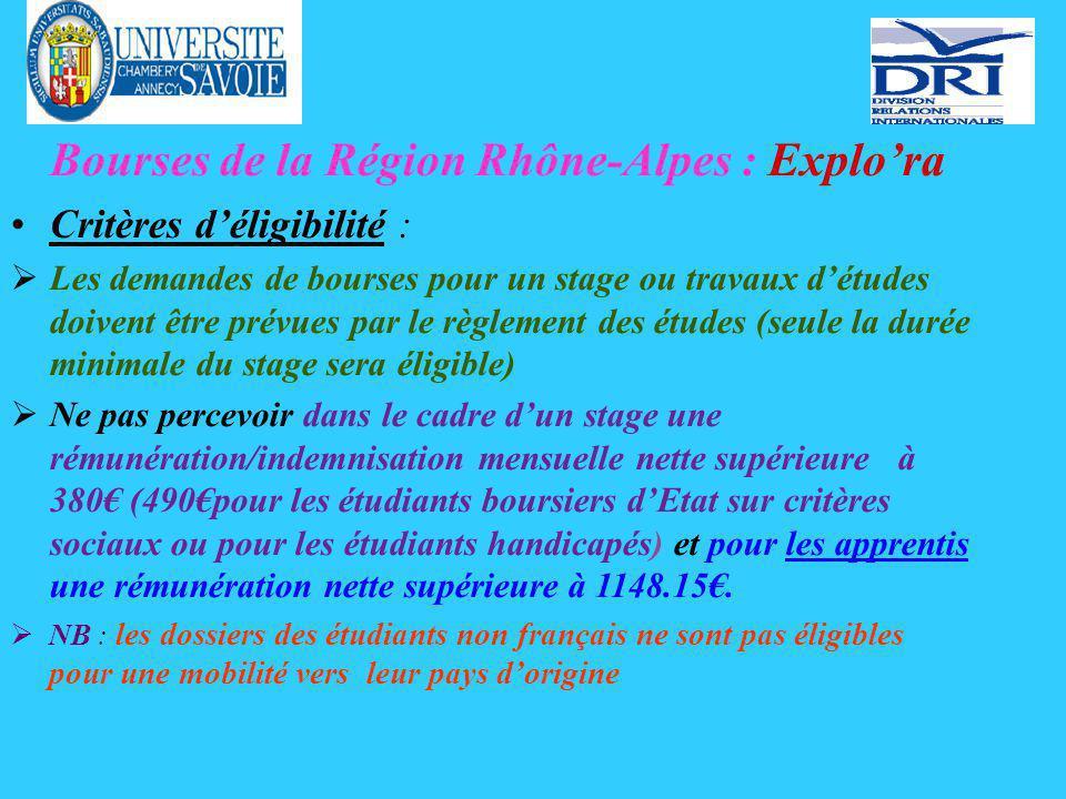 Bourses Erasmus Stage de mobilité études.